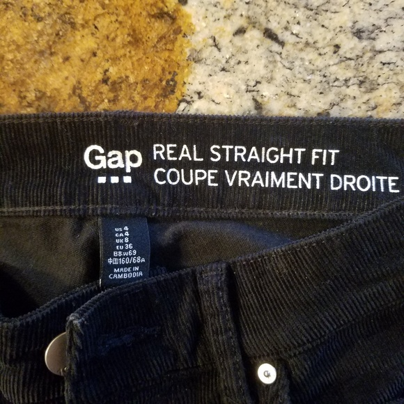 GAP Pants - Corduroy black Gap pants